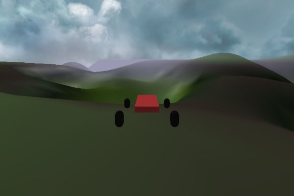 Terrain with fog and gradient testing.